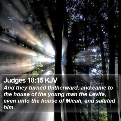 Judges 18:15 KJV Bible Verse Image