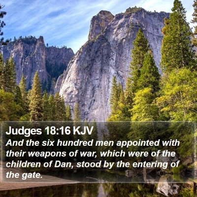 Judges 18:16 KJV Bible Verse Image