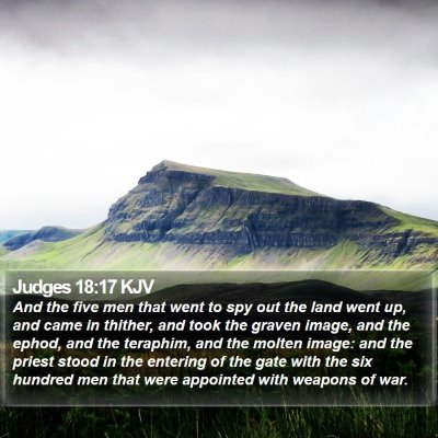 Judges 18:17 KJV Bible Verse Image