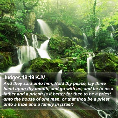 Judges 18:19 KJV Bible Verse Image