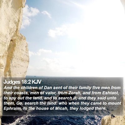 Judges 18:2 KJV Bible Verse Image