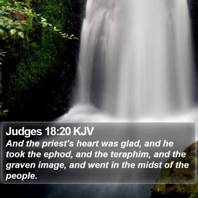 Judges 18:20 KJV Bible Verse Image