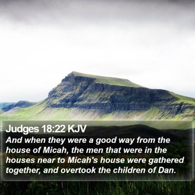 Judges 18:22 KJV Bible Verse Image