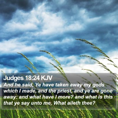 Judges 18:24 KJV Bible Verse Image