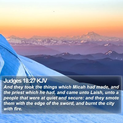 Judges 18:27 KJV Bible Verse Image