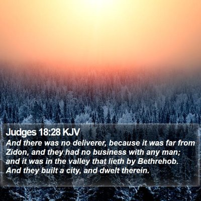 Judges 18:28 KJV Bible Verse Image