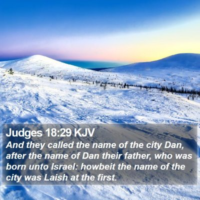 Judges 18:29 KJV Bible Verse Image