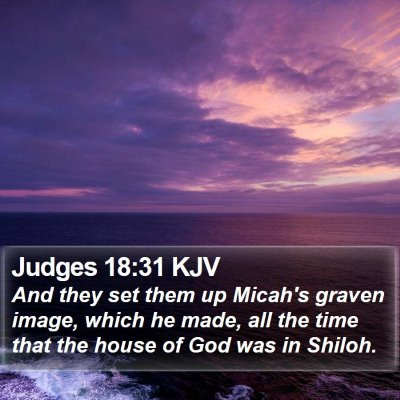 Judges 18:31 KJV Bible Verse Image