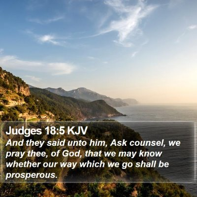 Judges 18:5 KJV Bible Verse Image