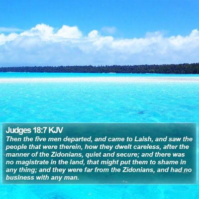 Judges 18:7 KJV Bible Verse Image