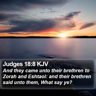 Judges 18:8 KJV Bible Verse Image