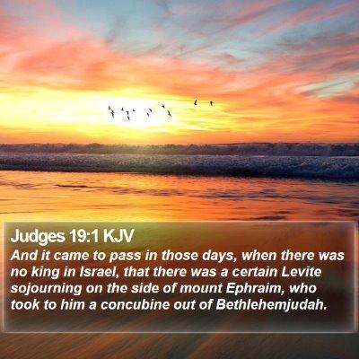 Judges 19:1 KJV Bible Verse Image