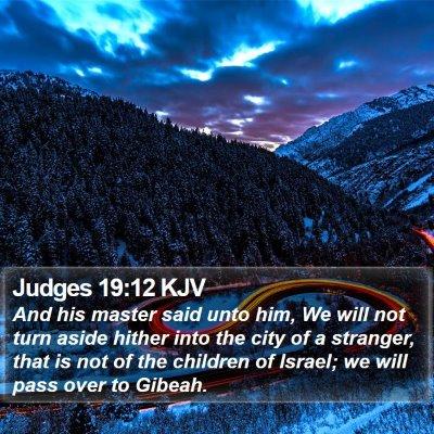 Judges 19:12 KJV Bible Verse Image