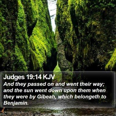Judges 19:14 KJV Bible Verse Image