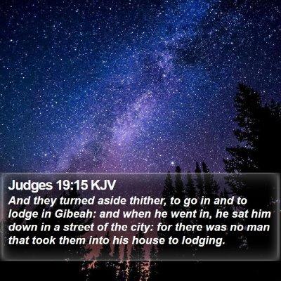 Judges 19:15 KJV Bible Verse Image