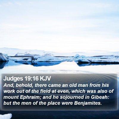 Judges 19:16 KJV Bible Verse Image