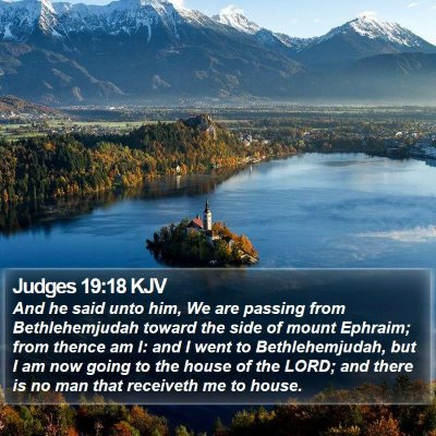 Judges 19:18 KJV Bible Verse Image