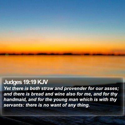 Judges 19:19 KJV Bible Verse Image