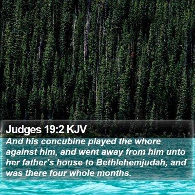 Judges 19:2 KJV Bible Verse Image