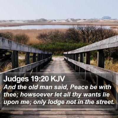 Judges 19:20 KJV Bible Verse Image