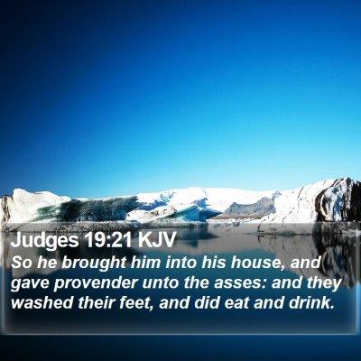 Judges 19:21 KJV Bible Verse Image