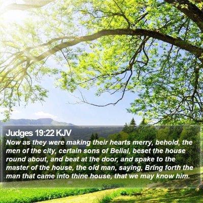 Judges 19:22 KJV Bible Verse Image