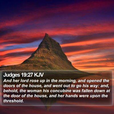 Judges 19:27 KJV Bible Verse Image