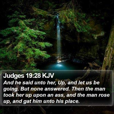Judges 19:28 KJV Bible Verse Image
