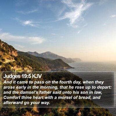 Judges 19:5 KJV Bible Verse Image