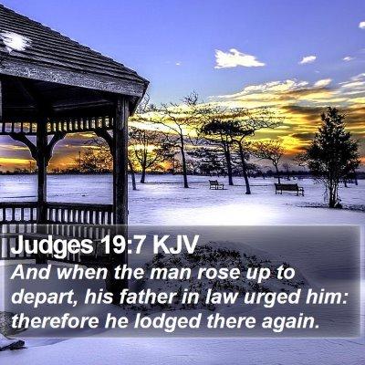 Judges 19:7 KJV Bible Verse Image