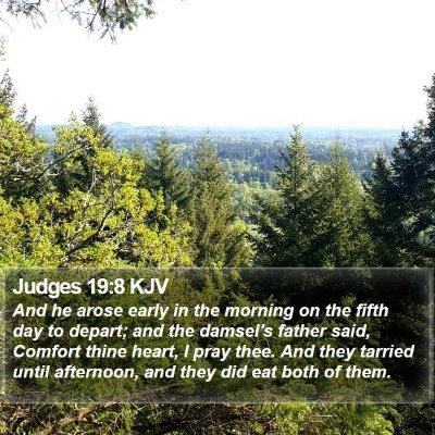 Judges 19:8 KJV Bible Verse Image
