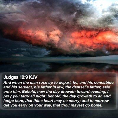Judges 19:9 KJV Bible Verse Image