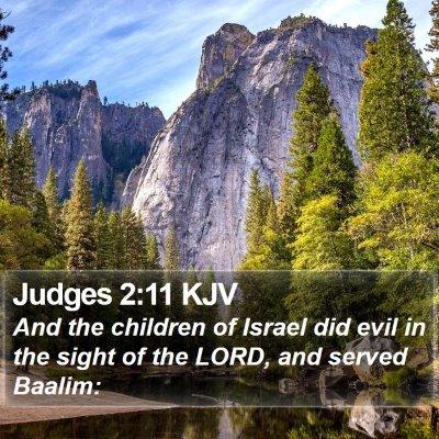 Judges 2:11 KJV Bible Verse Image