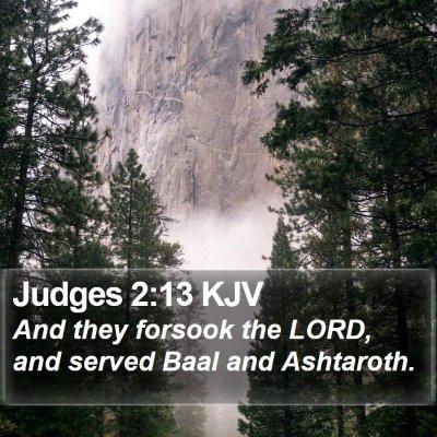 Judges 2:13 KJV Bible Verse Image