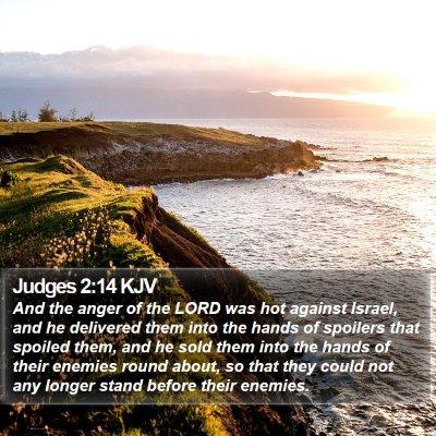 Judges 2:14 KJV Bible Verse Image