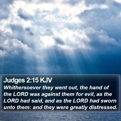 Judges 2:15 KJV Bible Verse Image