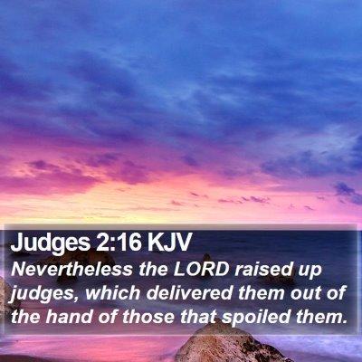 Judges 2:16 KJV Bible Verse Image