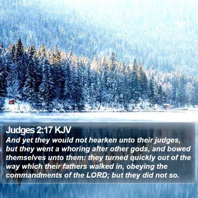 Judges 2:17 KJV Bible Verse Image