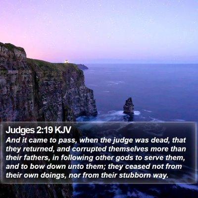 Judges 2:19 KJV Bible Verse Image