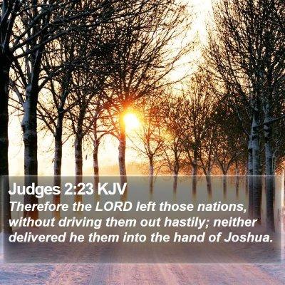 Judges 2:23 KJV Bible Verse Image