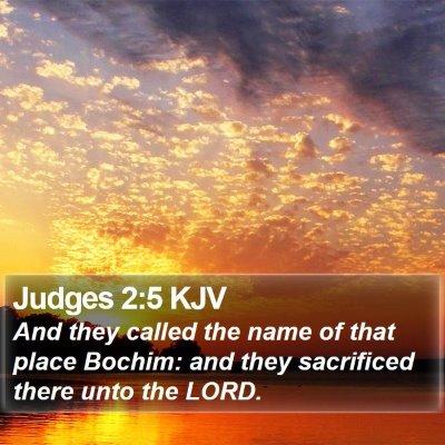 Judges 2:5 KJV Bible Verse Image