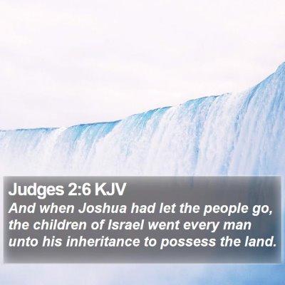 Judges 2:6 KJV Bible Verse Image