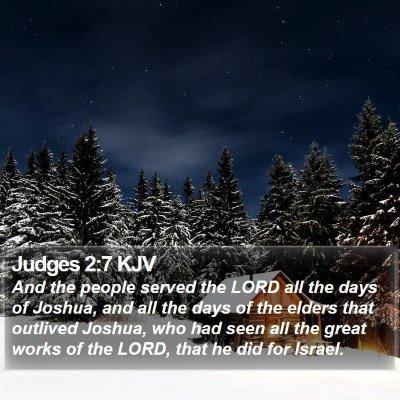 Judges 2:7 KJV Bible Verse Image