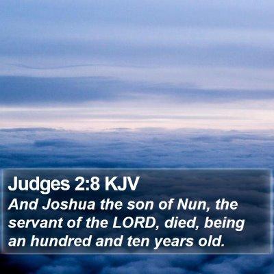 Judges 2:8 KJV Bible Verse Image