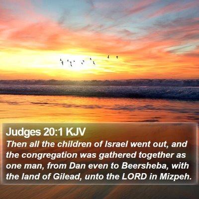 Judges 20:1 KJV Bible Verse Image