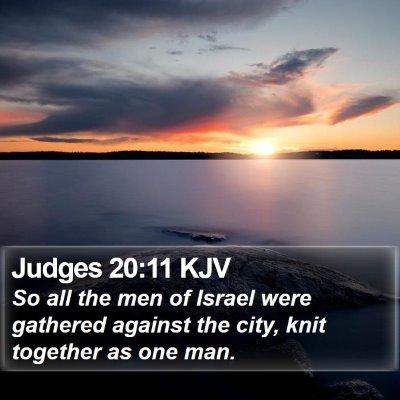 Judges 20:11 KJV Bible Verse Image