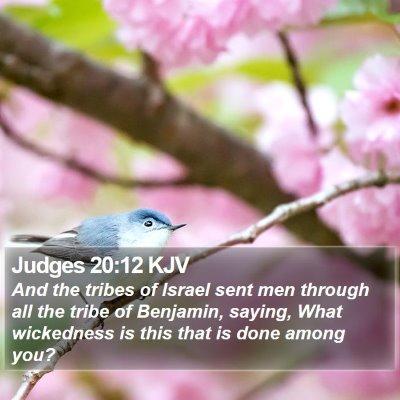 Judges 20:12 KJV Bible Verse Image