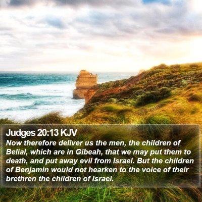 Judges 20:13 KJV Bible Verse Image