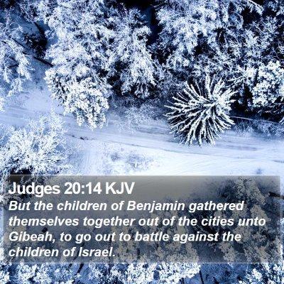 Judges 20:14 KJV Bible Verse Image