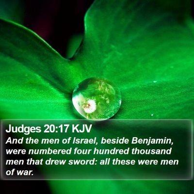Judges 20:17 KJV Bible Verse Image